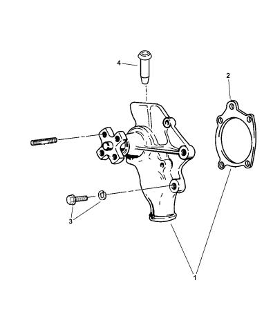 Mopar 5010956AB Water Pump Gasket