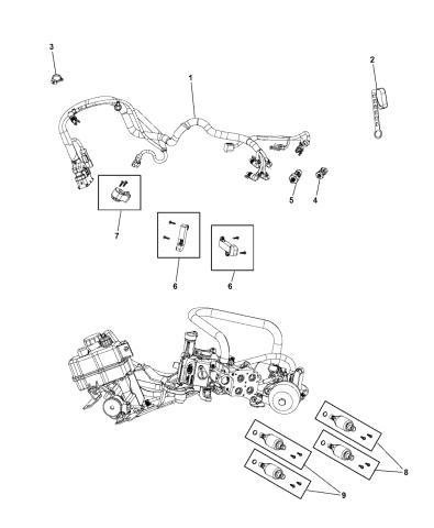 68226963AA - Genuine Mopar WIRING-TRANSMISSIONMopar Parts Giant