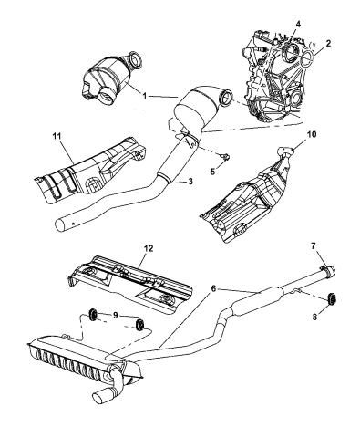2009 Dodge Caliber Exhaust System Mopar Parts Giant