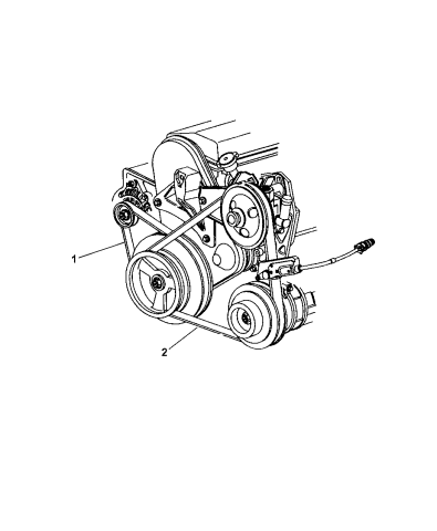 Mopar 4612247 Power Steering Belt