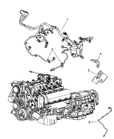 4801786AD - Genuine Mopar WIRING-INJECTOR | 2005 Grand Cherokee Engine Diagram |  | Mopar Parts Giant