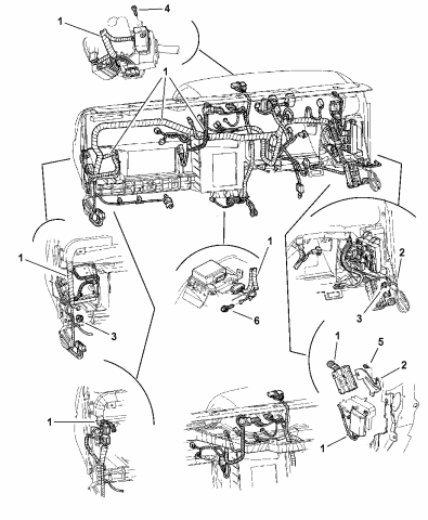 2002 dodge dakota wiring  instrument panel  mopar parts giant