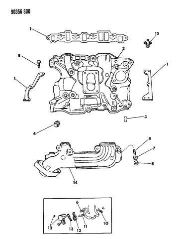 Manifolds - Intake & Exhaust - 1991 Dodge DakotaMopar Parts Giant