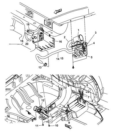 4891427ab Genuine Mopar Detector Natural Vacuum Leak Detecti