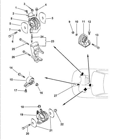 Mb844276 Genuine Mopar Engine Roll Dampener