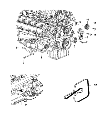 OEM NEW MOPAR Serpentine Engine Belt Chrysler Dodge Jeep  Cherokee 53013676AC
