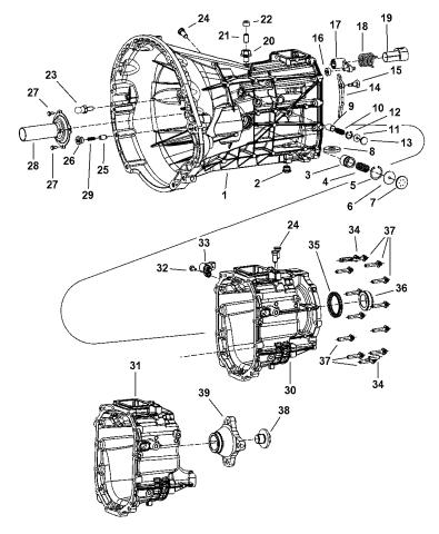 Transmission Case, Extension & Related Parts - 2006 Dodge Ram 1500Mopar Parts Giant