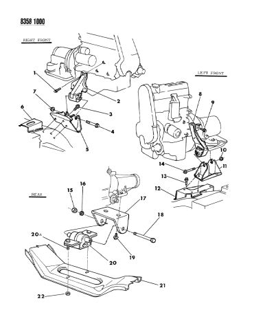 engine mounting - 1988 dodge dakota  mopar parts giant