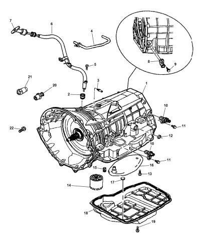 Transmission Case & Related Parts - 2007 Dodge Ram 1500Mopar Parts Giant