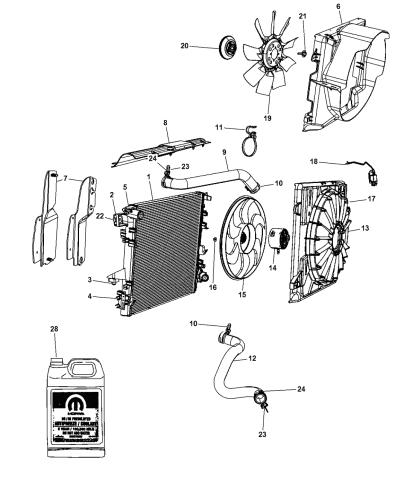 55056634AB - Genuine Mopar RADIATOR-ENGINE COOLINGMopar Parts Giant