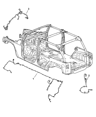 Genuine Chrysler 56055489AG Electrical Chassis Wiring