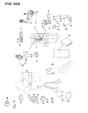 [SCHEMATICS_4CA]  MS480003 - Genuine Mopar GROMMET | 1989 Dodge Raider Wiring Diagram |  | Mopar Parts Giant
