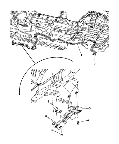 2006 Jeep Commander Underbody A C Heater Lines