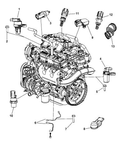 [SCHEMATICS_4JK]  5029808AD - Genuine Mopar SENSOR | 2010 Chrysler Engine Diagram |  | Mopar Parts Giant