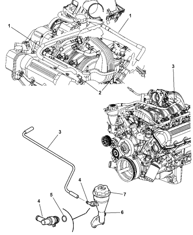 Crankcase Ventilation - 2005 Jeep Grand Cherokee | 2005 Grand Cherokee Engine Diagram |  | Mopar Parts Giant