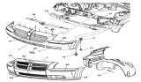 Related Parts for Dodge Magnum Air Duct - 5030054AA