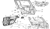 Related Parts for Jeep Window Regulator - 68002893AA