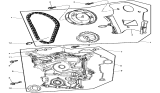 Related Parts for Dodge Challenger Timing Cover - 4792795AD