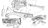 Related Parts for Dodge Durango Fender - 5134123AA
