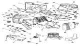 Related Parts for Chrysler Sebring Evaporator - 5013064AA