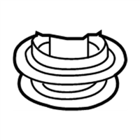 Mopar 5085528AA ISOLATOR-REAR SUSPENSION SPRING