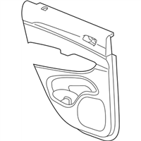 Mopar 5ZK961X9AA PANEL-REAR DOOR TRIM