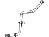Genuine Chrysler 4578237AA Fuel Filler Tube Hose