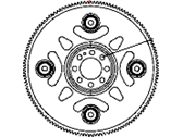 Dodge Caliber Flywheel - 53010352AB