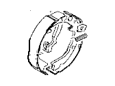 Chrysler Sebring Parking Brake Shoe - MB668907