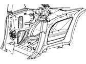 Genuine Chrysler 1FT01XDVAK Quarter Trim Panel