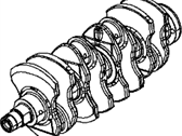 Dodge Dart Crankshaft - 4893989AA