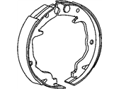 Dodge Caliber Parking Brake Shoe - 5191215AA