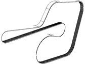 Chrysler Drive Belt - 4627031AA