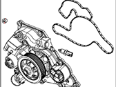 Chrysler 300 Water Pump - 5038668AB