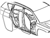 Mopar 5116398AG WEATHERSTRIP-FRONT DOOR BODY MOUNTED