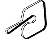 Chrysler Drive Belt - 53013676AC