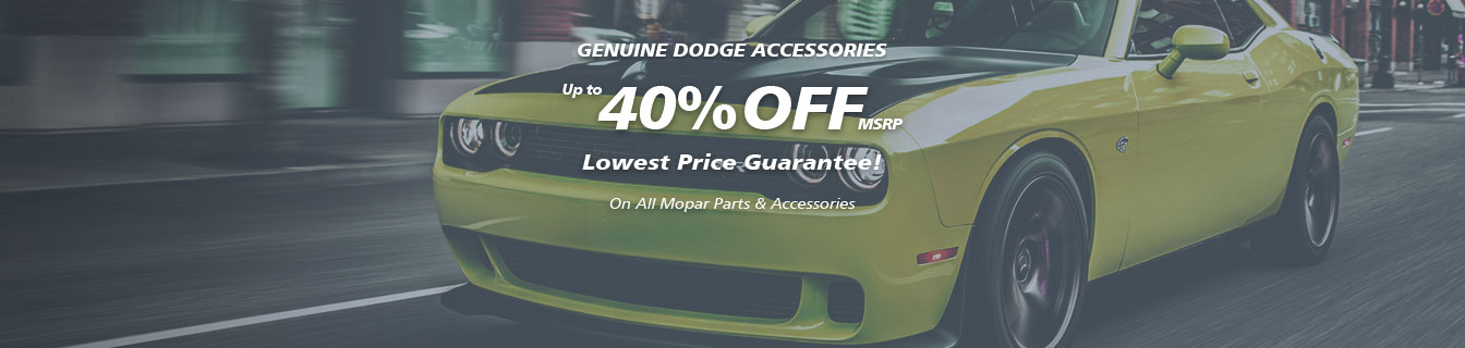Genuine Mopar accessories, Guaranteed lowest prices